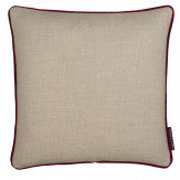 Clarke & Clarke Lindow Cushion Linen & Claret