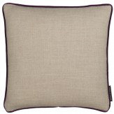 Clarke & Clarke Lindow Cushion Linen & Violet