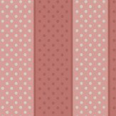Little Greene Paint Spot Strawberry Cream Wallpaper