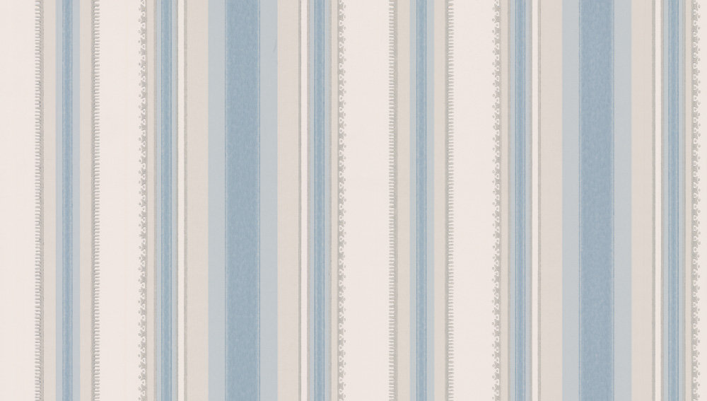 Little Greene Colonial Stripe Classic Blue Wallpaper main image