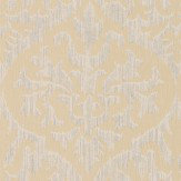 Albany Sparkle Ikat Damask Gold Wallpaper