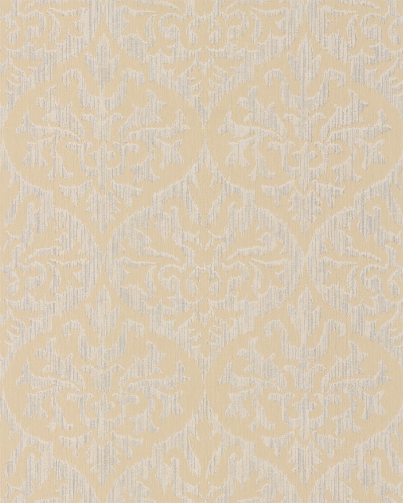 Albany Sparkle Ikat Damask Gold Wallpaper main image