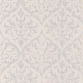 Albany Sparkle Ikat Damask White Wallpaper