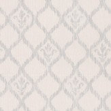 Albany Sparkle Ikat Motif White Wallpaper