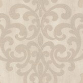 Albany Crocodile Glitter Damask Cream Wallpaper