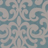 Albany Crocodile Glitter Damask Teal Wallpaper