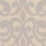 Albany Crocodile Glitter Damask Stone Wallpaper