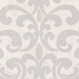 Albany Crocodile Glitter Damask White Wallpaper