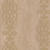 Albany Crocodile Glitter Scroll Gold Wallpaper