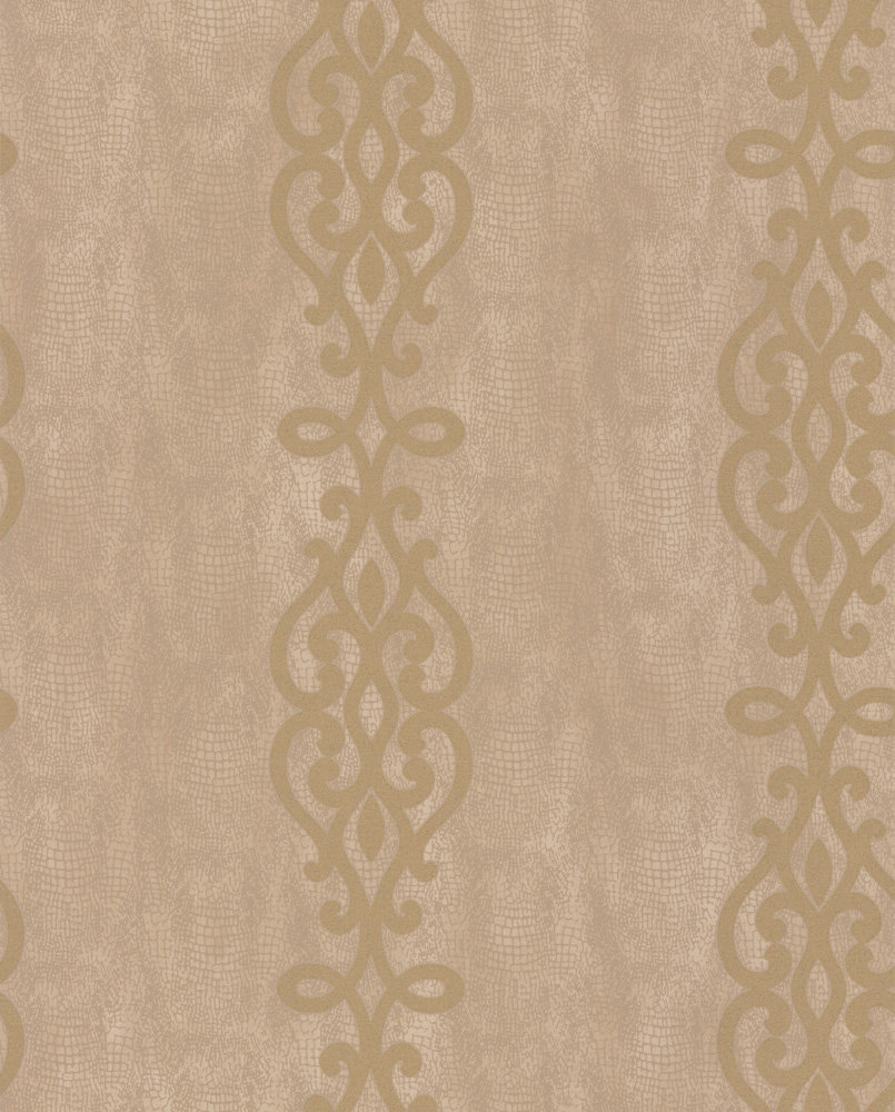 Albany Crocodile Glitter Scroll Gold Wallpaper - Product code: 20720
