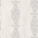 Albany Crocodile Glitter Scroll White Wallpaper - Product code: 20722