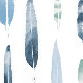 Mini Moderns Feathers  Chalkhill Blue Wallpaper
