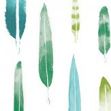 Mini Moderns Feathers  Coach Emerald Wallpaper - Product code: AZDPT024CE