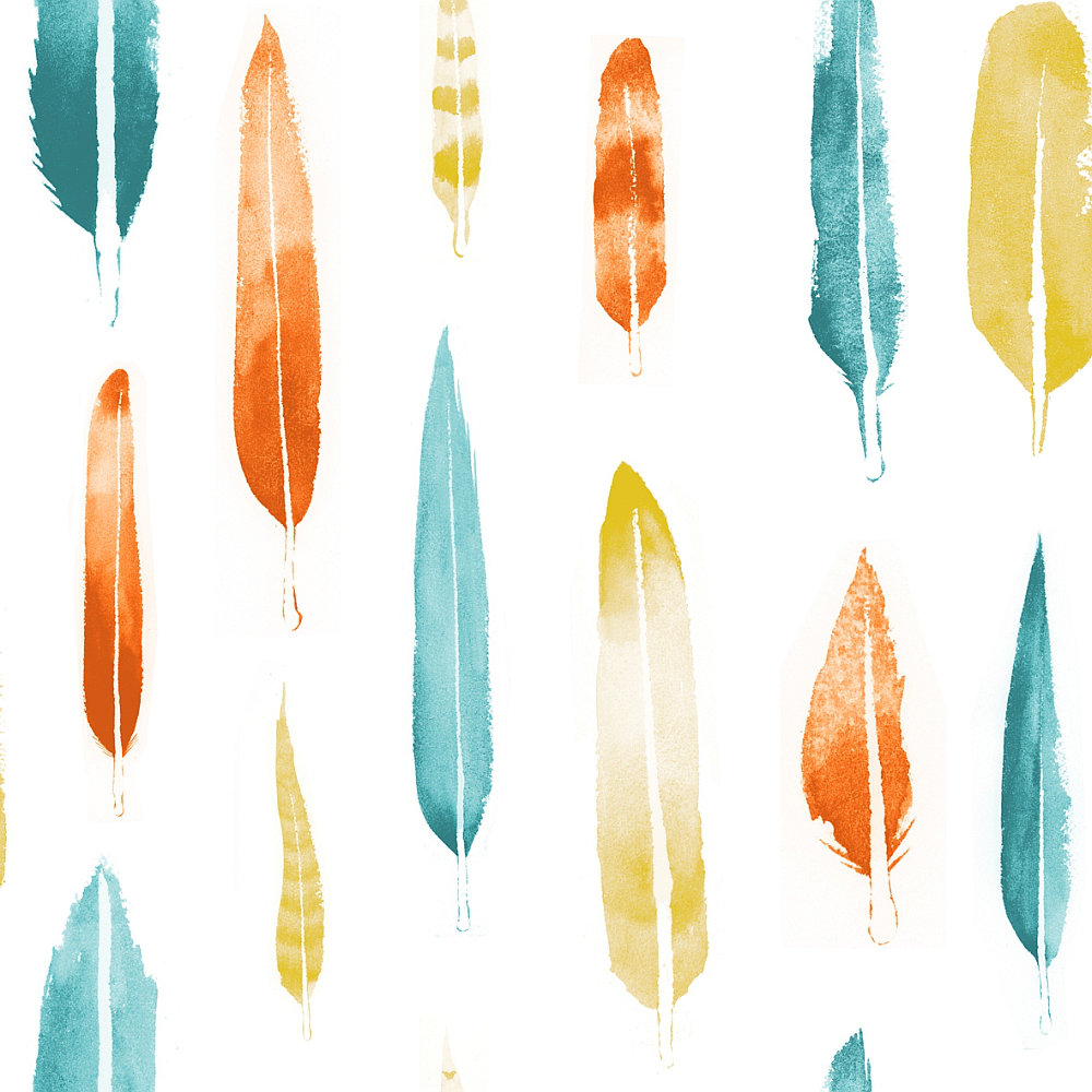 Mini Moderns Feathers Lido Wallpaper - Product code: AZDPT024LI