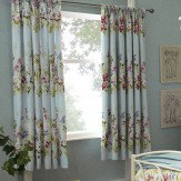 iliv Meadow Pencil Pleat Lined Curtains Blue Ready Made Curtains - Product code: 683045