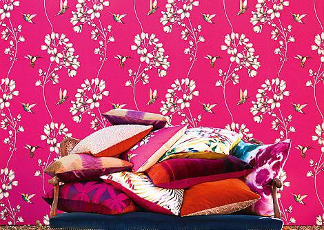 Harlequin Amazilia Flamingo Wallpaper