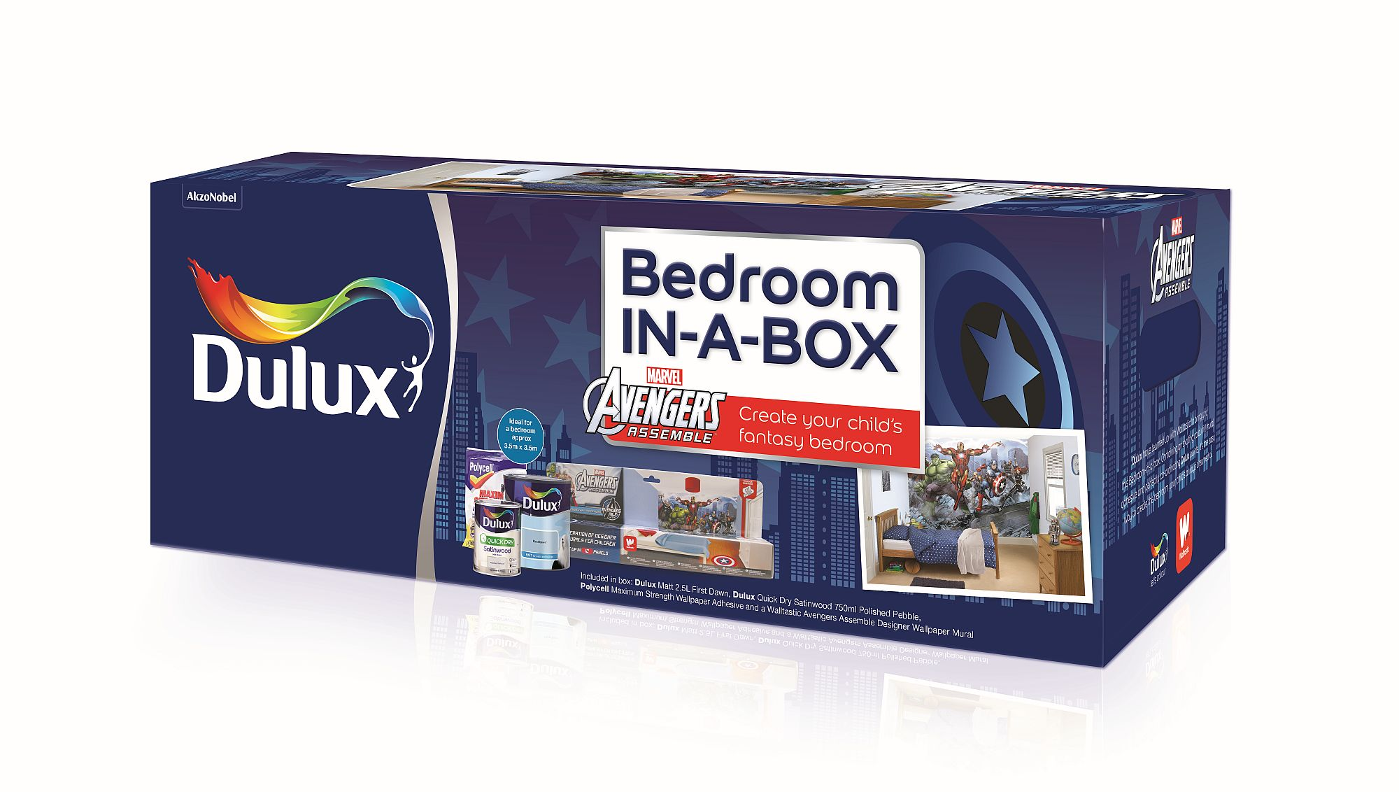 Dulux Avengers Bedroom In A Box: Avengers Bedroom In A Box By Walltastic : Wallpaper Direct