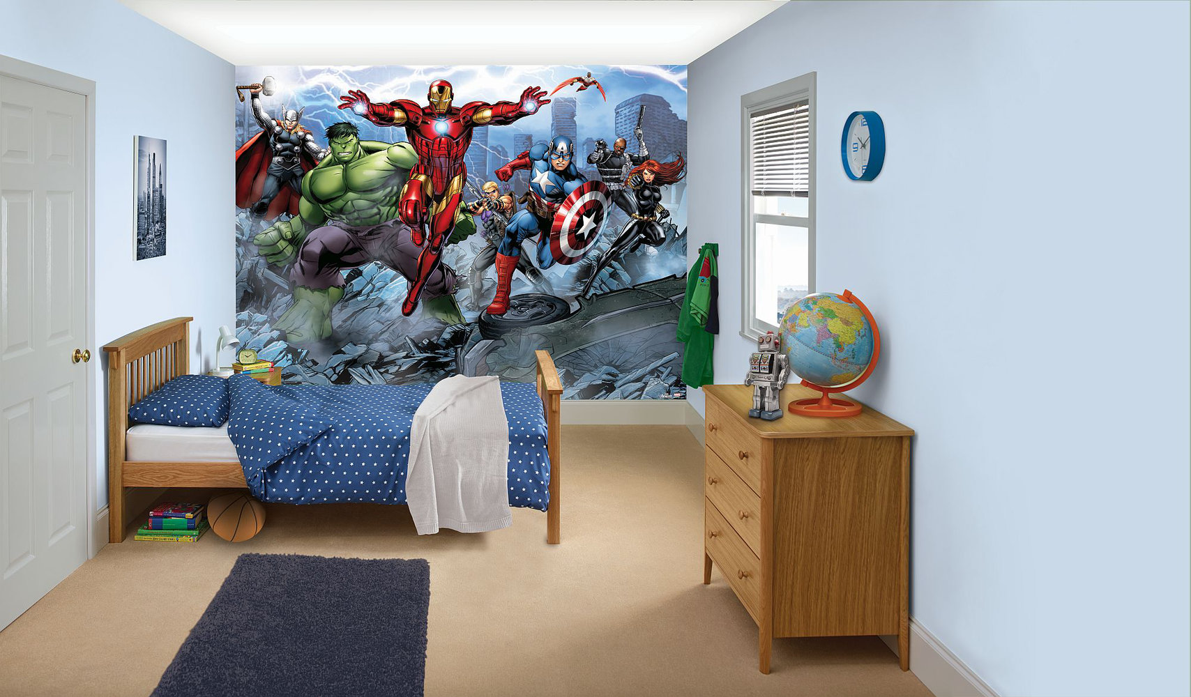 Avengers bedroom in a box by Walltastic : Wallpaper Direct