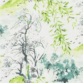Designers Guild Winter Palace Lime Wallpaper - Product code: PDG651/01