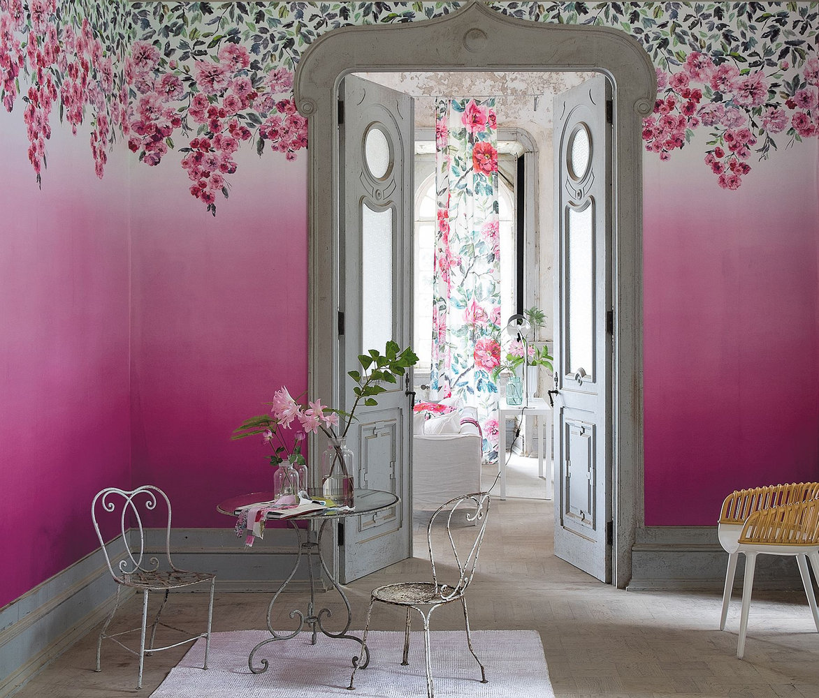 Trailing Rose Panel By Designers Guild Peony Wallpaper Direct