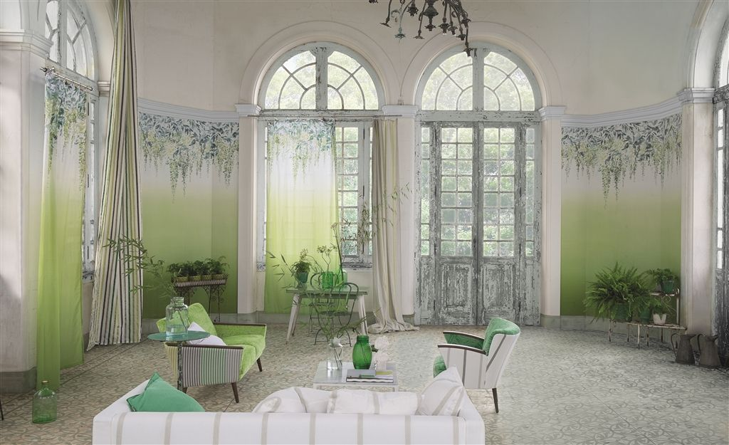 Summer Palace Mural - Grass - by Designers Guild