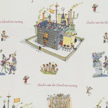 Roald Dahl Chocolate Factory Neutral Fabric