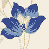 Vymura Snowberry French Blue Wallpaper