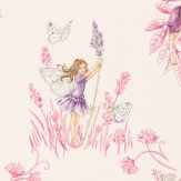 Jane Churchill Meadow Flower Fairies Cream Wallpaper - Product code: J124W-01