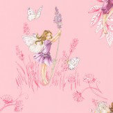 Jane Churchill Meadow Flower Fairies Pink Wallpaper - Product code: J124W-02