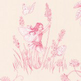 Jane Churchill Meadow Flower Fairies Pale Pink Wallpaper - Product code: J124W-05