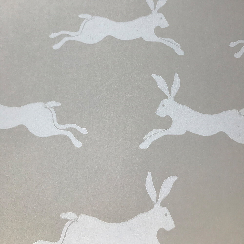 March Hare Wallpaper - Stone - by Jane Churchill