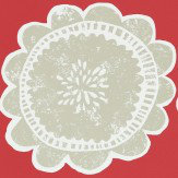 Scion Lotta Poppy and Biscuit Wallpaper - Product code: 111098