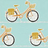 Scion Cykel  Tangerine, Sulphur and Coal Wallpaper
