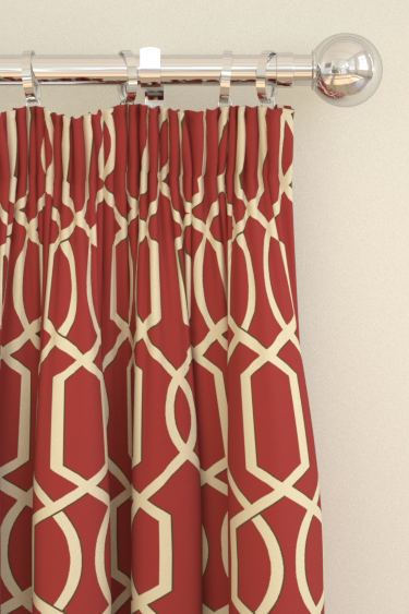 Blendworth Cheyne Red Curtains - Product code: CHEYNE 5