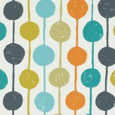 Scion Taimi Sulphur,Tangerine and Kingfisher Wallpaper - Product code: 111122