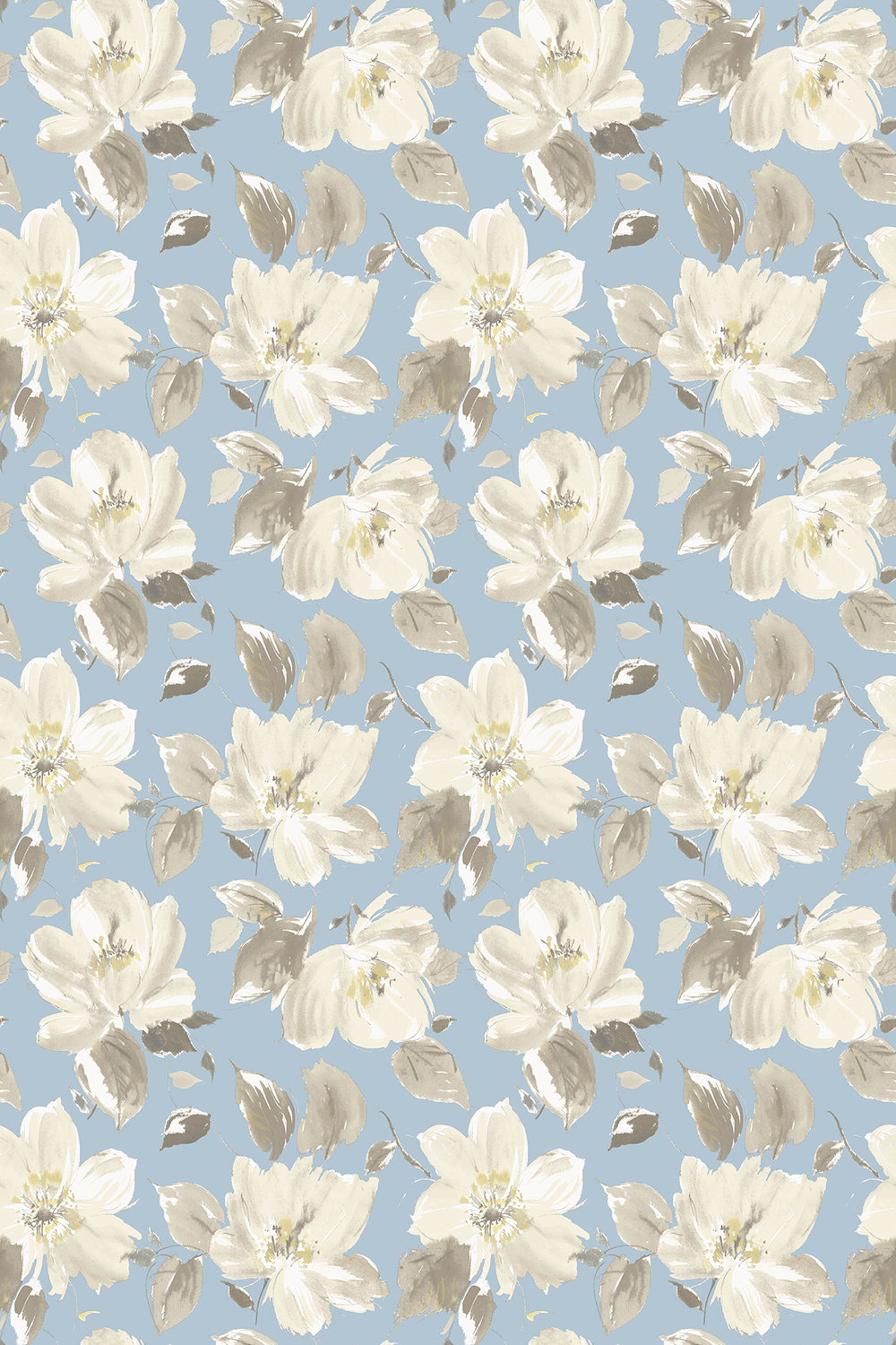 Blendworth Lillie Blue Fabric - Product code: LILLIE 4