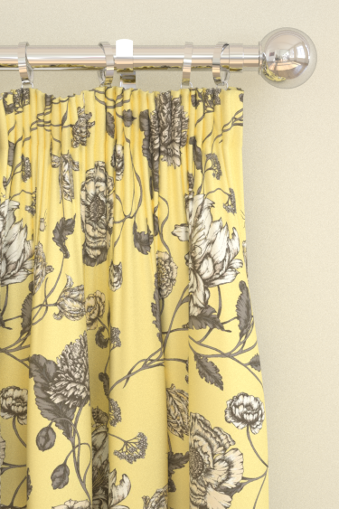 Blendworth Mayenne Charcoal/ Yellow Curtains - Product code: MAYENNE 1