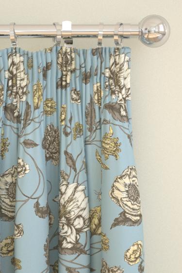 Blendworth Mayenne Blue Curtains - Product code: MAYENNE 3