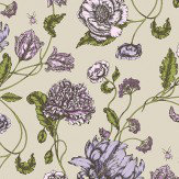 Blendworth Mayenne Purple/ Green Fabric - Product code: MAYENNE 4