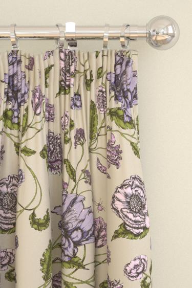 Blendworth Mayenne Purple/ Green Curtains - Product code: MAYENNE 4