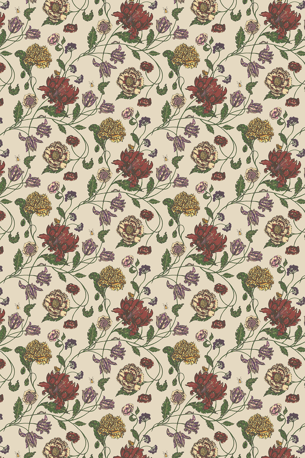 Blendworth Mayenne Red/ Cream Fabric - Product code: MAYENNE 5