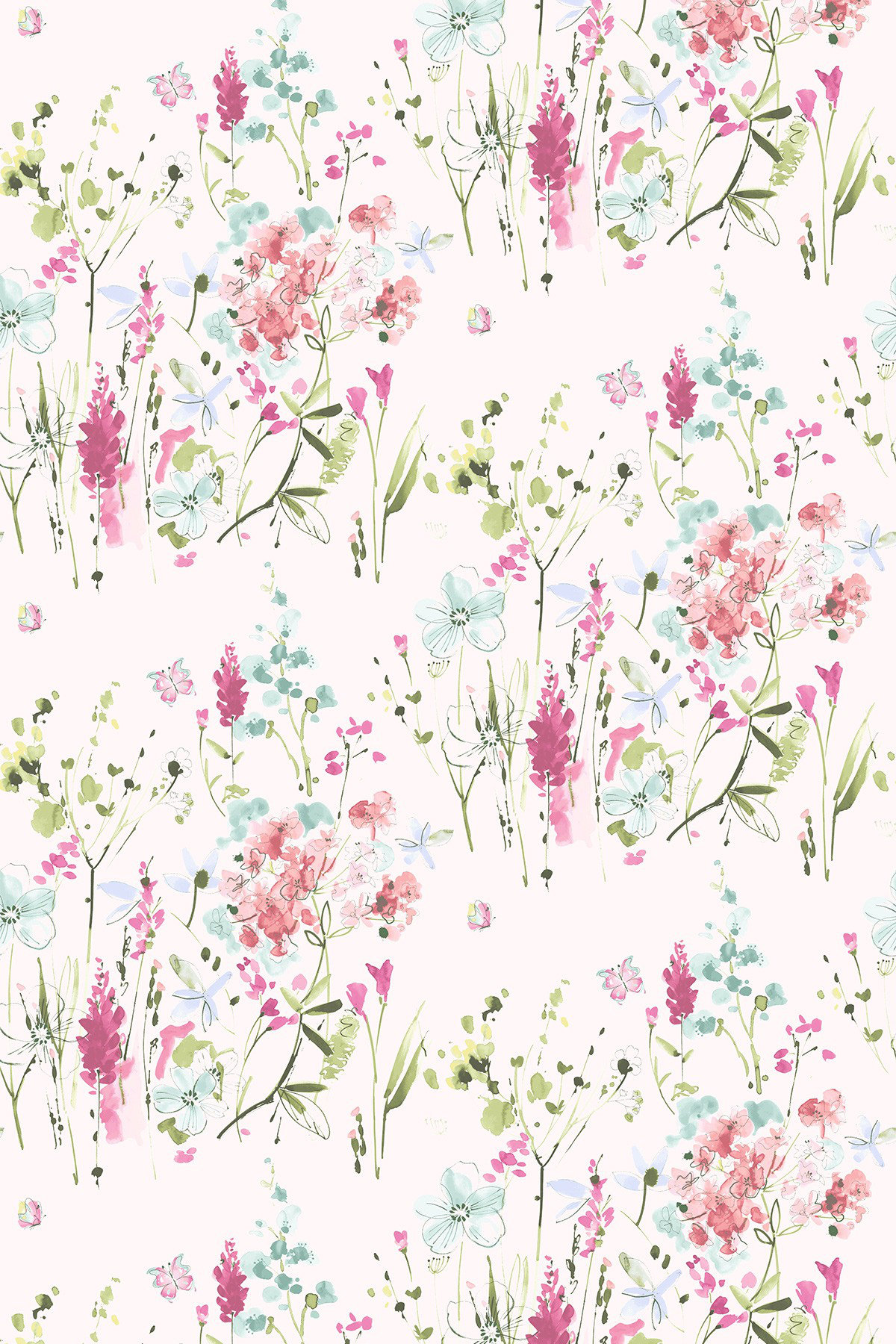 Image of Blendworth Fabric Meadow Flowers, MEADOW FLOWERS 1