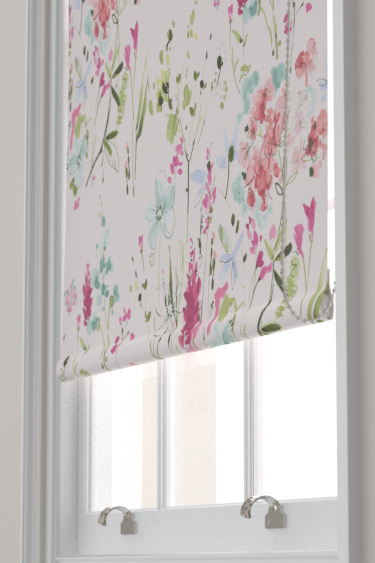 Blendworth Meadow Flowers Pink/ Green Blind - Product code: MEADOW FLOWERS 1