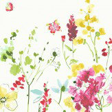 Blendworth Meadow Flowers Red Fabric - Product code: MEADOW FLOWERS 2