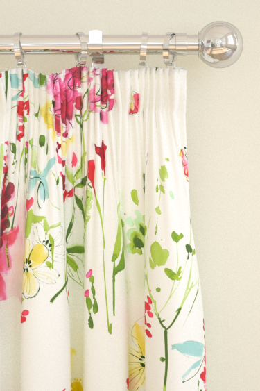 Blendworth Meadow Flowers Red Curtains - Product code: MEADOW FLOWERS 2