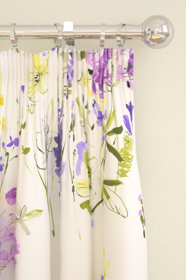 Blendworth Meadow Flowers Purple Curtains - Product code: MEADOW FLOWERS 3