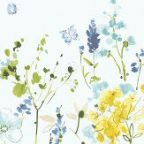 Blendworth Meadow Flowers Blue Fabric - Product code: MEADOW FLOWERS 4