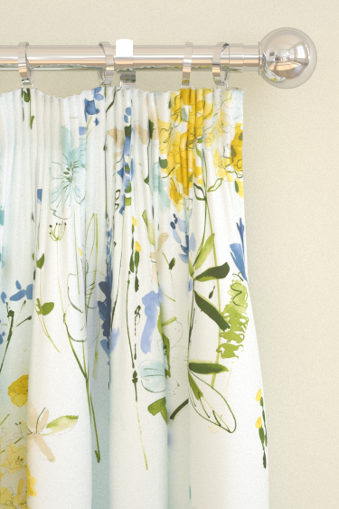 Blendworth Meadow Flowers Blue Curtains - Product code: MEADOW FLOWERS 4