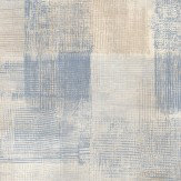 Casadeco Wood Check Blue Wallpaper