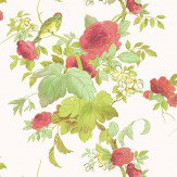 Blendworth Silk Flower Ivory/ Red Fabric